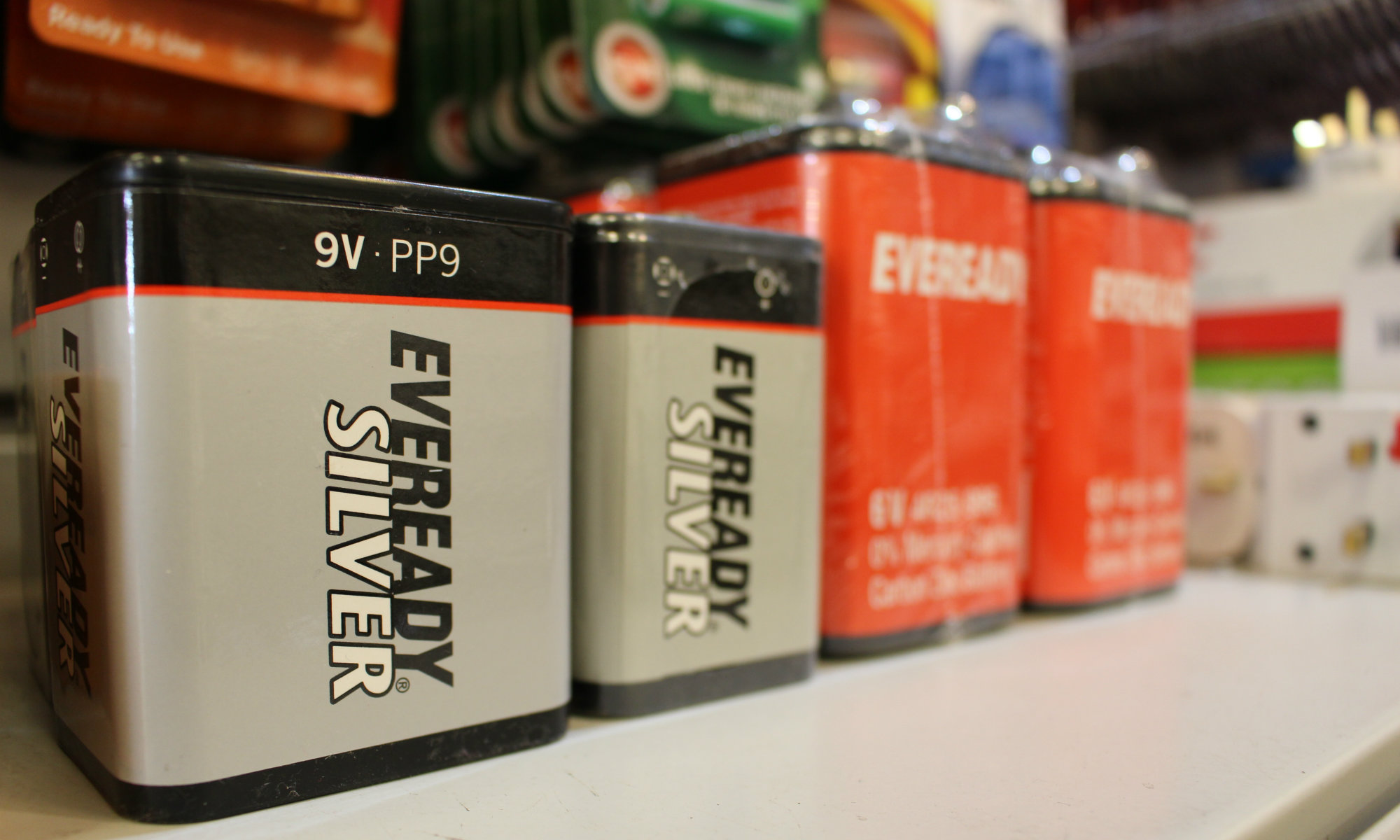 eveready 9v and 6v batteries for old radios